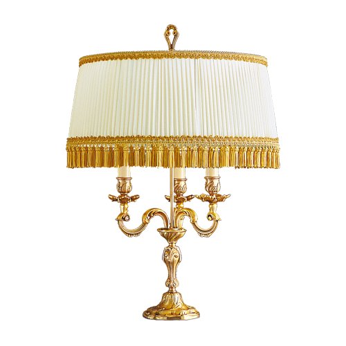 Lucien Gau Louis XV table lamp with lampshade 15203 bis