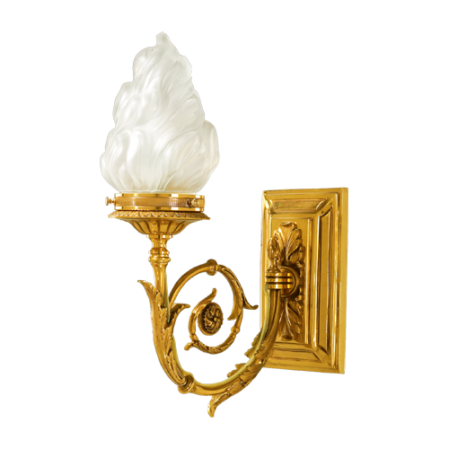 Lucien Gau Directoire Wall Lamp with light in the shape of a flame 18631