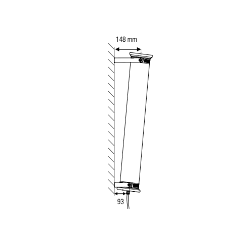 IN THE TUBE 120-700 DCW éditions PARIS Wall lamp diagonal