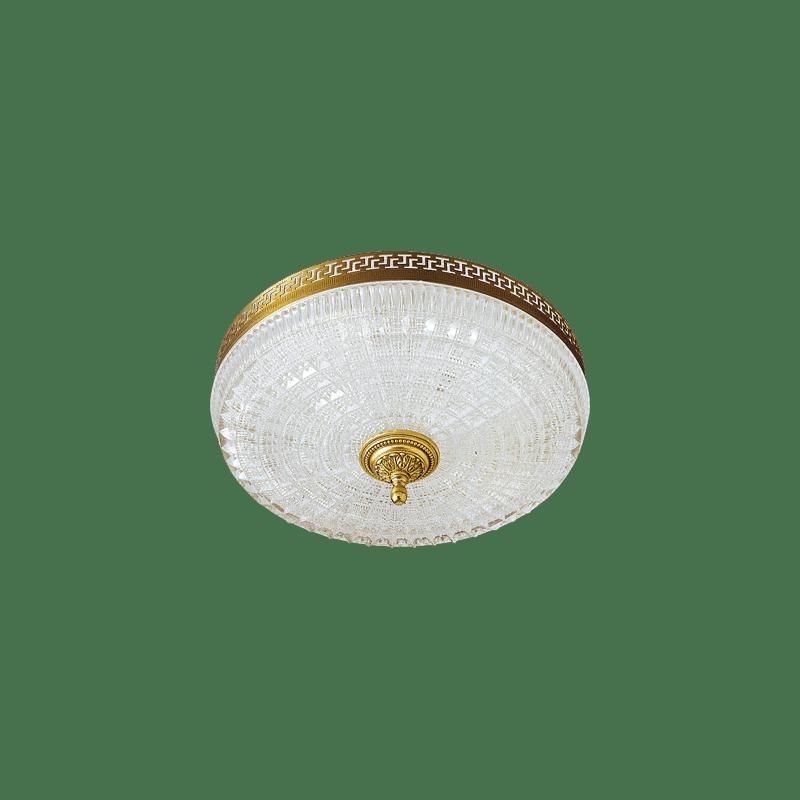 Lucien Gau Ceiling light Vieil Or Cristal 3L 00660/35
