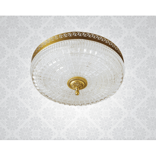 Lucien Gau Ceiling light Vieil Or Cristal 3L 00660/35