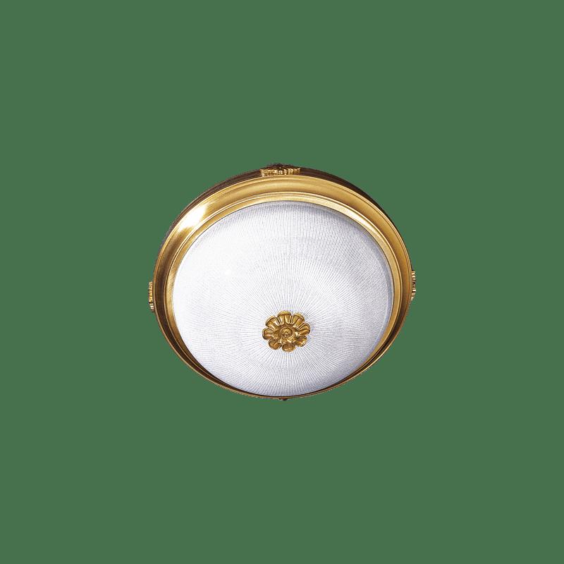 Lucien Gau Deckenleuchte Vieil Or Glasgeschirr 3L Muster 00563