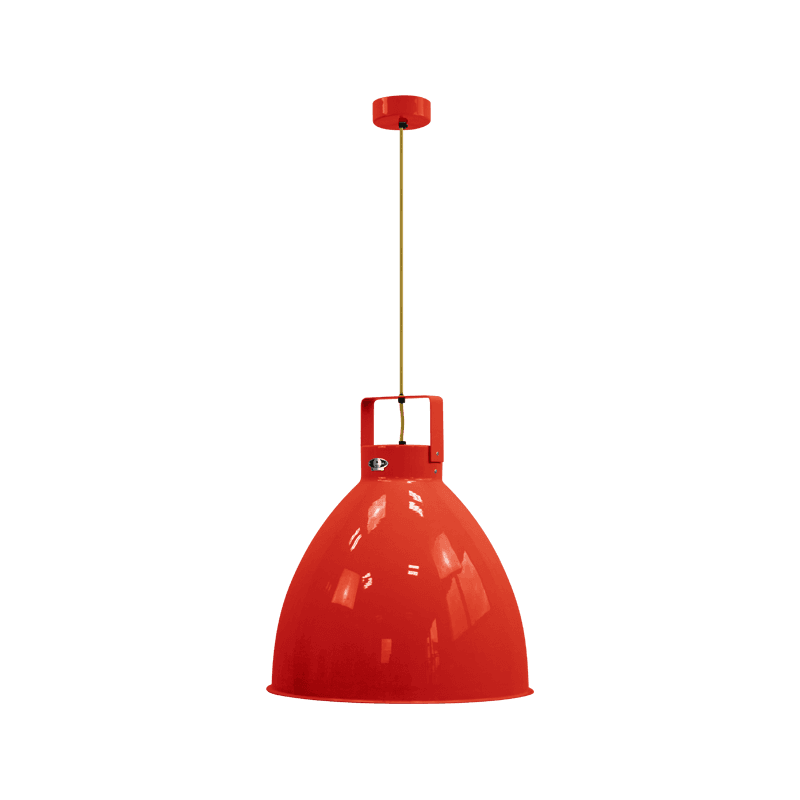 IN STOCK ! Jieldé Augustin collection A540 Pendant lamp Red RAL3020SHINY / Interior : GOLD
