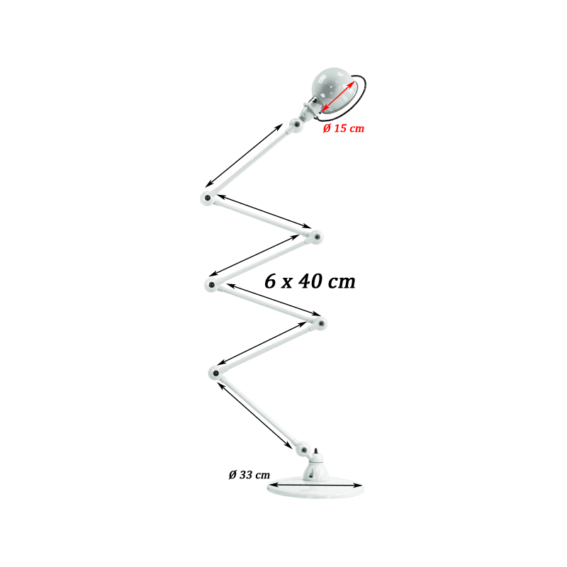 Jieldé Loft Collection D9406 Zig-Zag Stehlampe