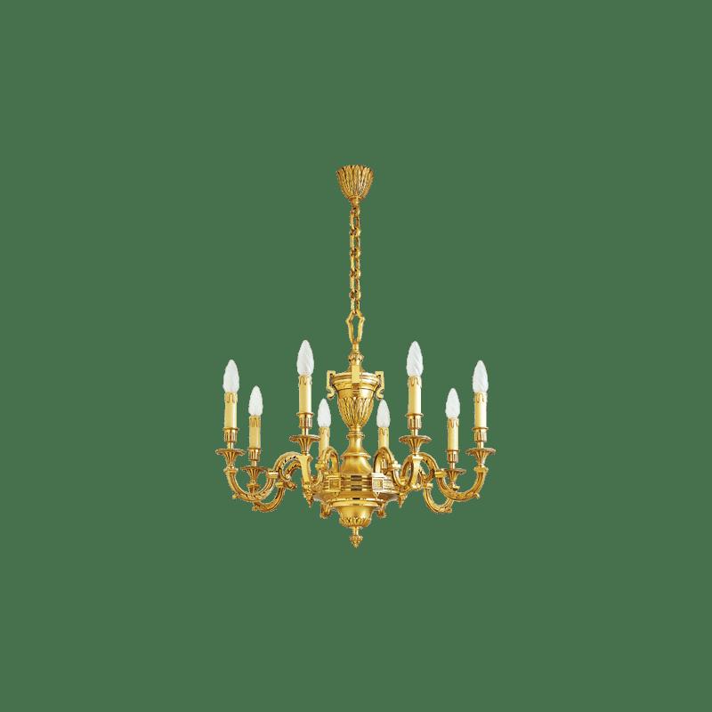 Lucien Gau Gilded bronze chandelier 16738 Louis XVI