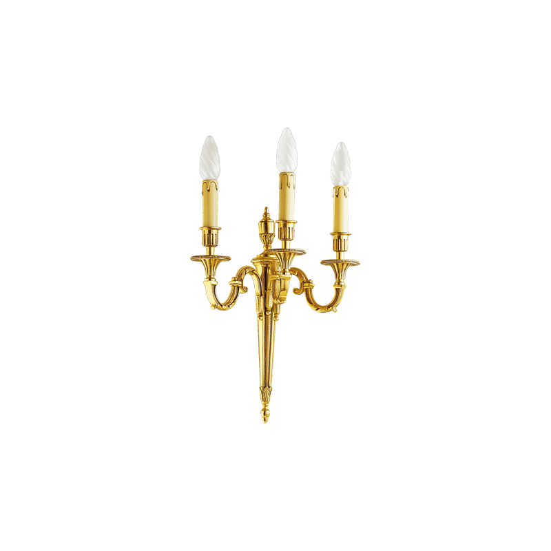 Lucien Gau Wall lamp in solid bronze 16733 Louis XVI