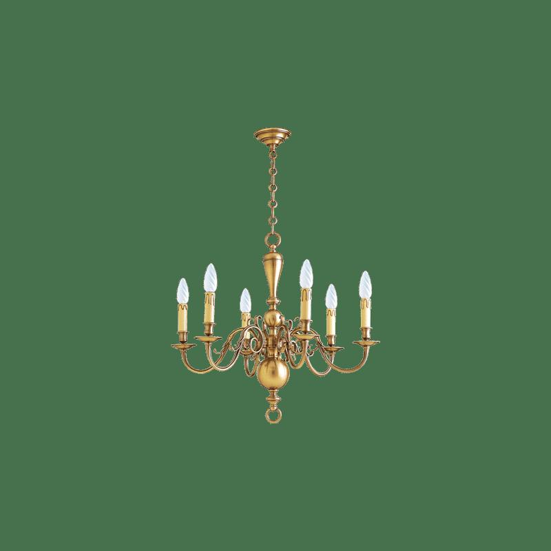 Lucien Gau Bronze chandelier 14446 Dutch style
