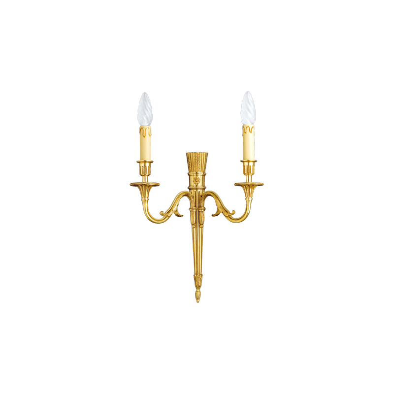 Lucien Gau Wall lamp in solid bronze 16703/2 Louis XVI