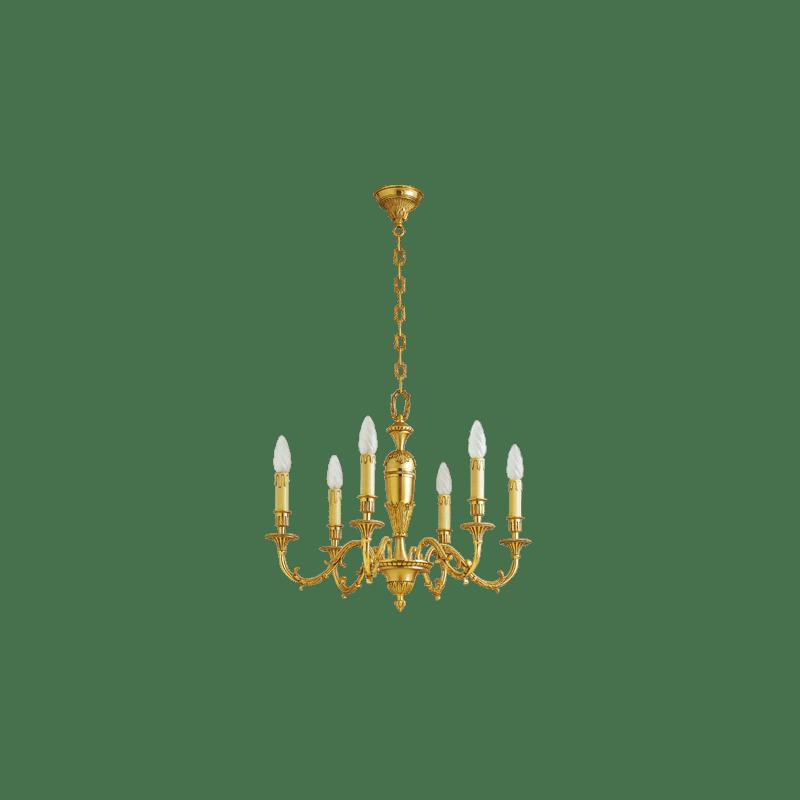 Lucien Gau Louis XIV bronze chandelier 16766
