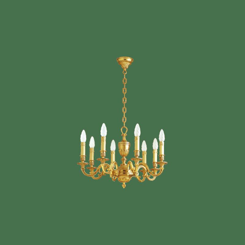 Lucien Gau Gilded bronze chandelier 16938 Louis XVI