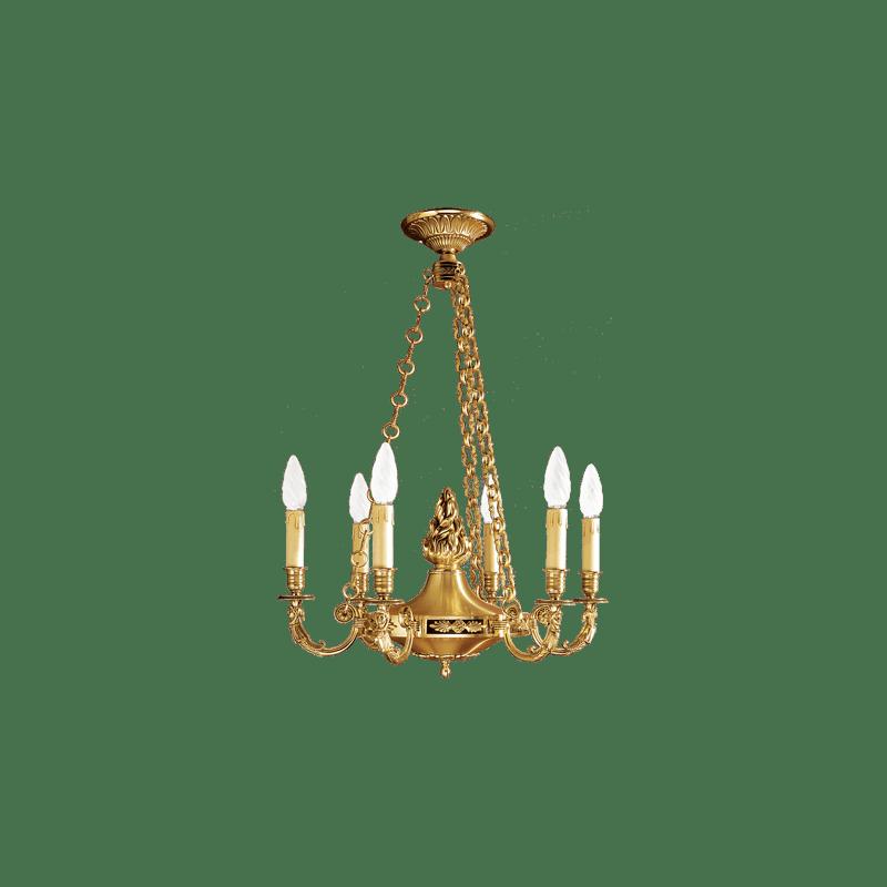 Lucien Gau Bronze chandelier 15666 Directoire