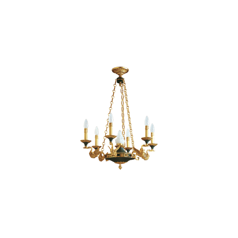 Lucien Gau Massiver Bronze Kronleuchter 15037 Empire