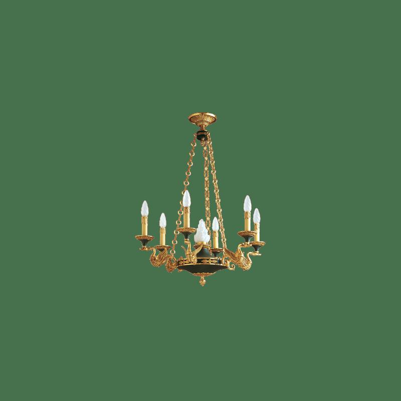 Lucien Gau Solid bronze chandelier 15037 Empire