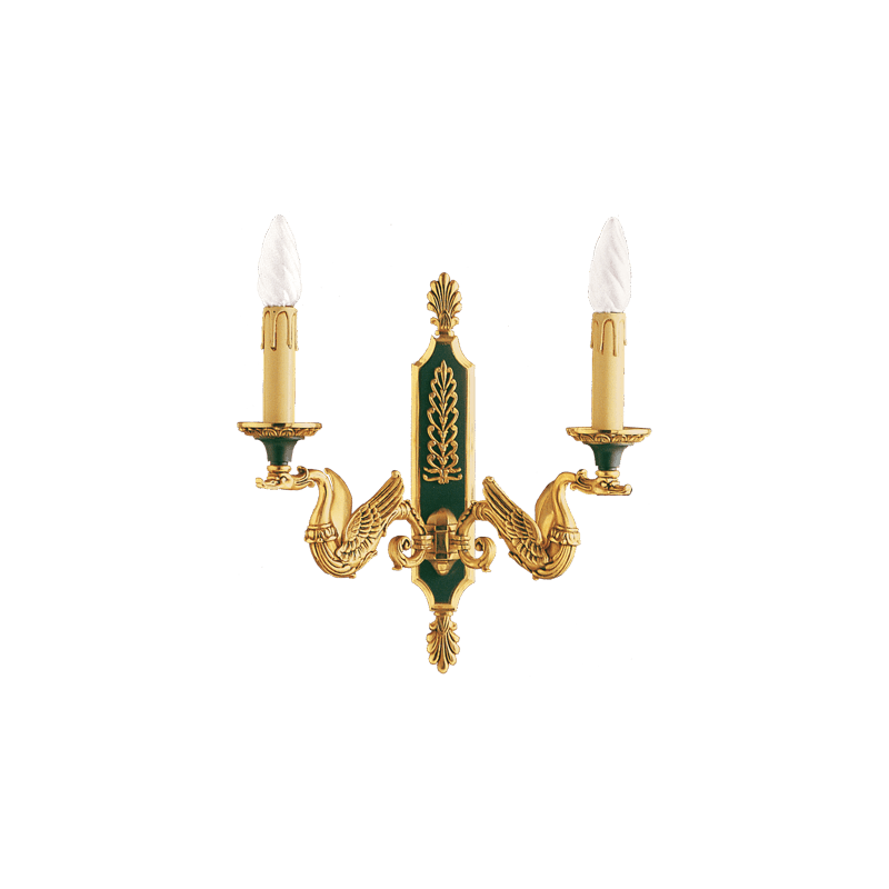 Lucien Gau Wall lamp in solid bronze 15032 Empire