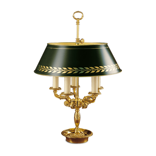 Lucien Gau Lampe de table en bronze massif 15195