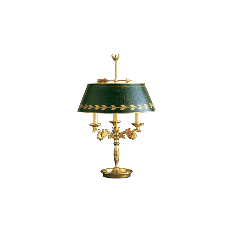 Lucien Gau Lampe de table Bouillotte de style Empire 15093