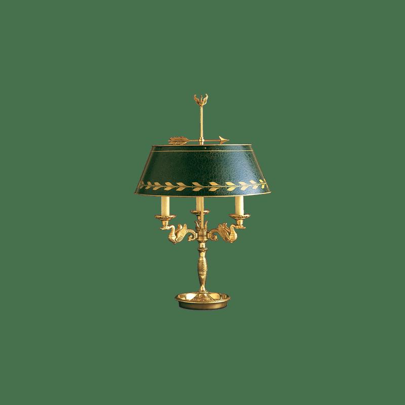 Lucien Gau Tischlampe Bouillotte im Empire-Stil 15093