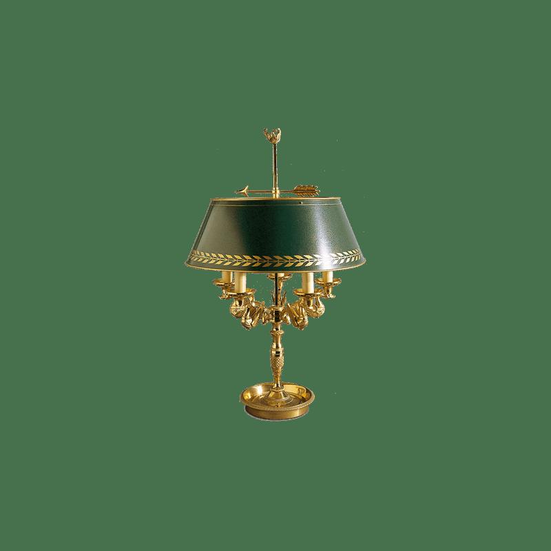 Lucien Gau Bouillotte Tischlampe aus massiver Bronze 15095 Empire