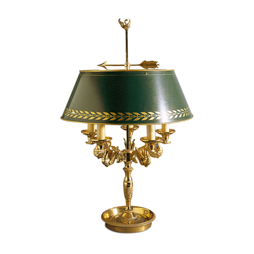 Lucien Gau Lampe de table en bronze massif 15095