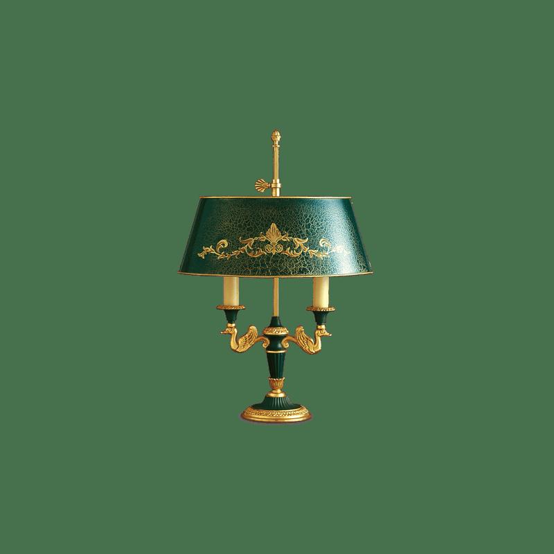 Lucien Gau Empire style Bouillotte table lamp 15012 bis