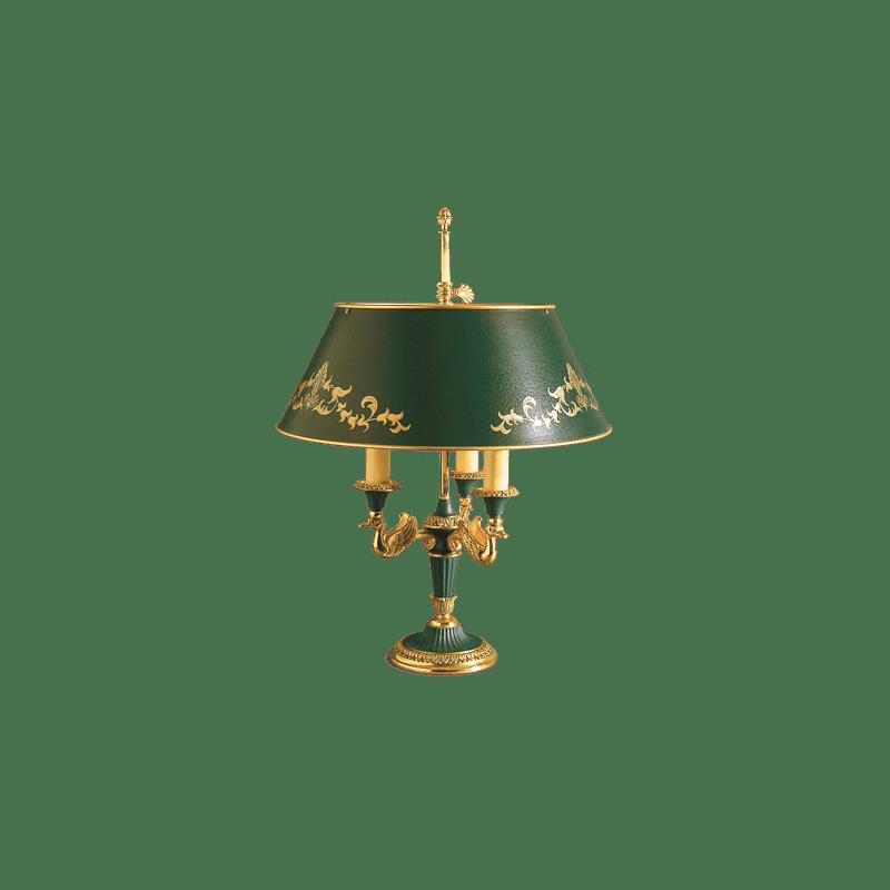 Lucien Gau Empire style Bouillotte table lamp 15133