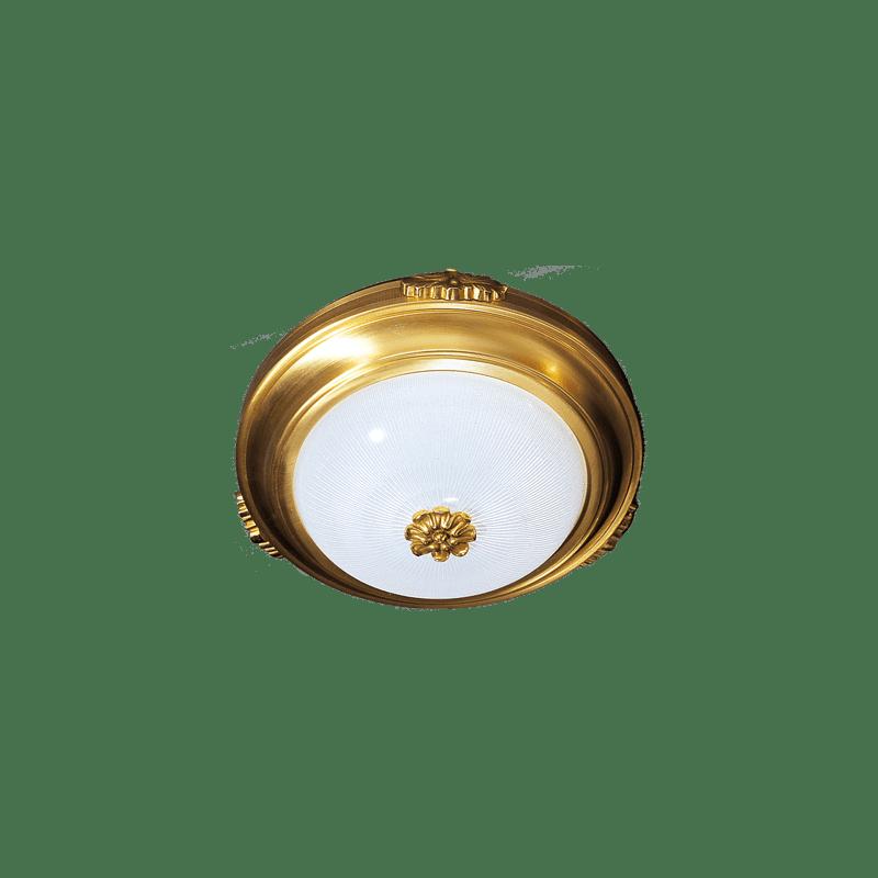 Lucien Gau Large Bronze Deckenleuchte 542