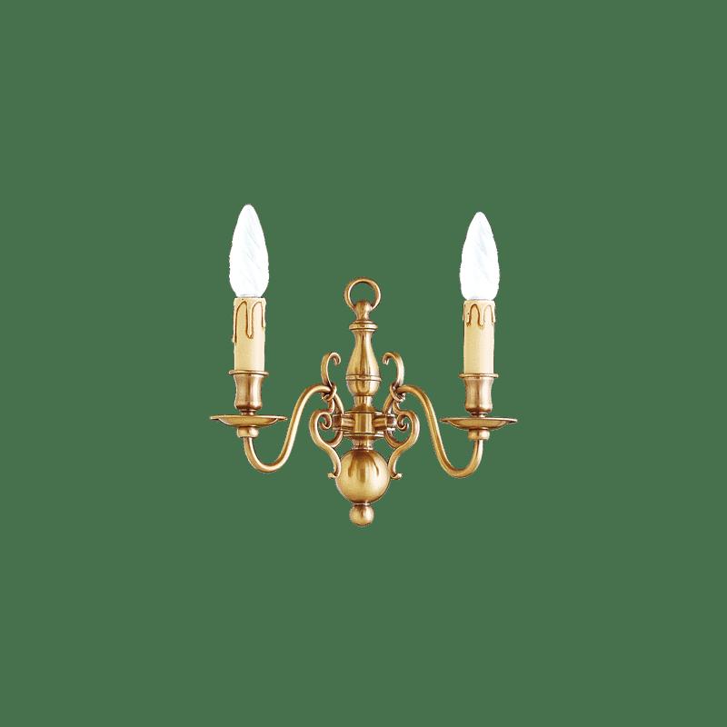 Lucien Gau Applique en bronze à deux lumières 14202 Style Hollandais