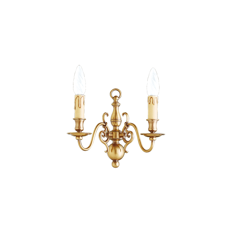 Lucien Gau bronze Wandleuchte mit zwei Leuchten 14202 Niederländischer Stil