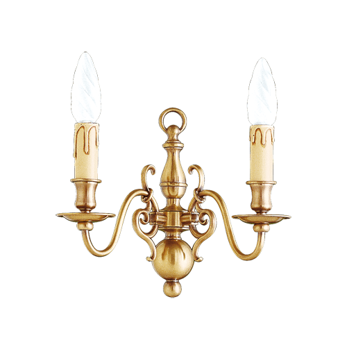 Lucien Gau bronze wall light with two lights 14202
