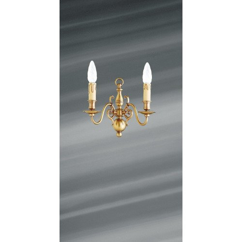 Lucien Gau bronze wall light with two lights 14202 Dutch style