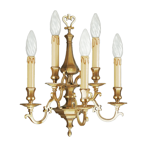 Lucien Gau Wall lamp in solid bronze five lights 13235