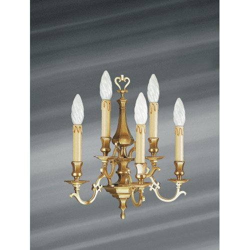 Lucien Gau Wall lamp in solid bronze five lights 13235 Louis XIII