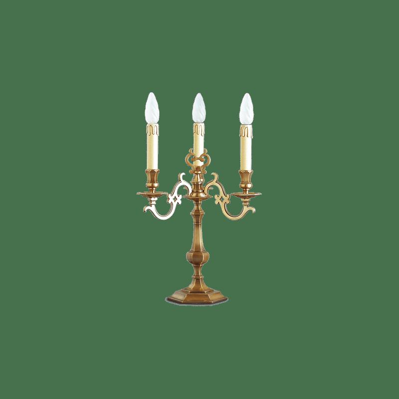 Lucien Gau Lampe de table Louis XIII à trois lumières 13213 Louis XIII