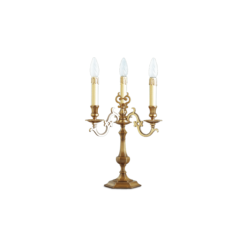 Lucien Gau Louis XIII table lamp with three lights 13213 Louis XIII