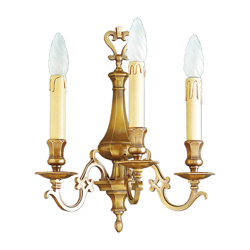 Lucien Gau Wall lamp in solid bronze three lights 13233