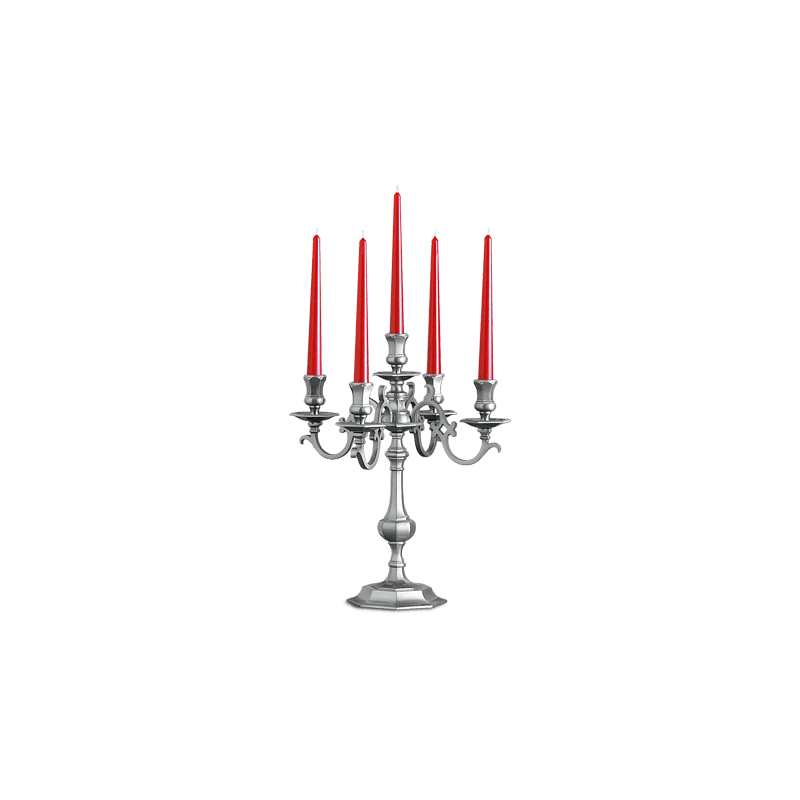 Lucien Gau Solid bronze Girandole with five lights 13215 ter Louis XIII