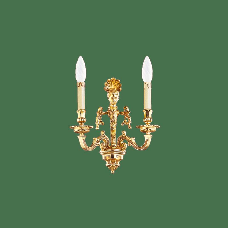 Lucien Gau Louis XIV Wandleuchte mit zwei Leuchten 14842