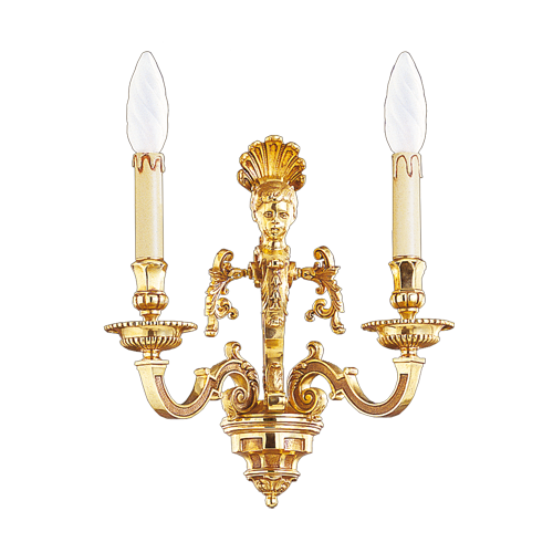 Lucien Gau Louis XIV wall lamp with two lights 14842