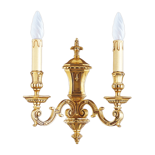 Lucien Gau Louis XIV wall lamp with two lights 14952