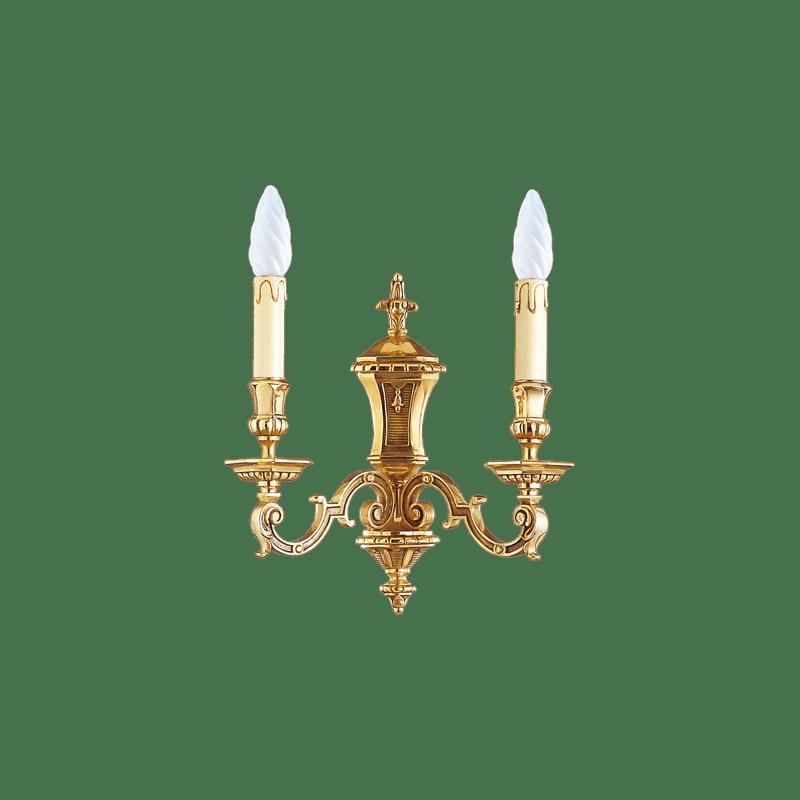 Lucien Gau Louis XIV Wandleuchte mit zwei Leuchten 14952