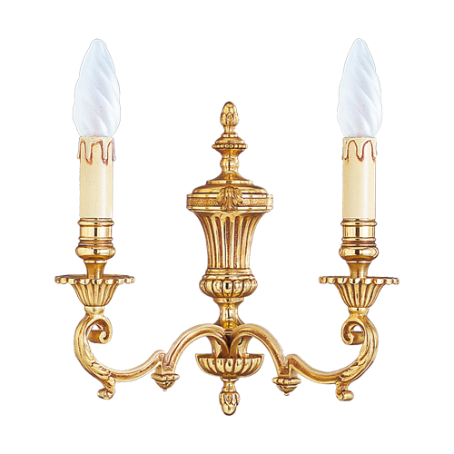 Lucien Gau Louis XIV wall lamp with two lights 15902