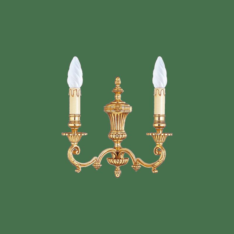 Lucien Gau Louis XIV Wandleuchte mit zwei Leuchten 15902