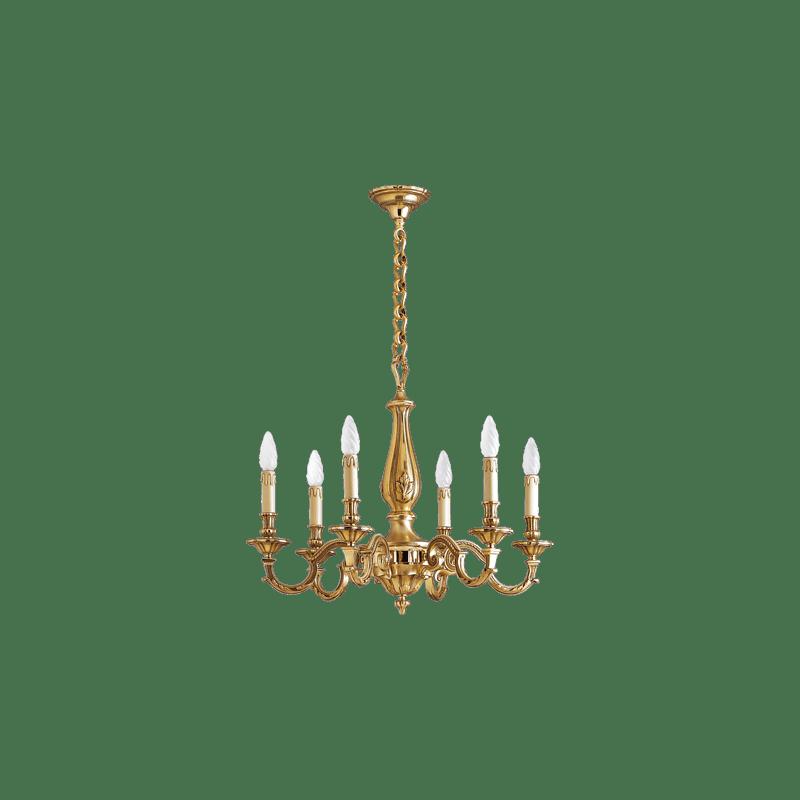Lucien Gau Lustre Louis XIV à six lumières 15336