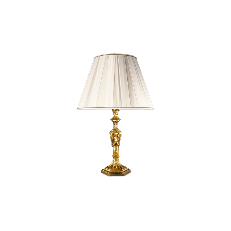 Lucien Gau Table lamp in solid bronze, Louis XIV style 14581