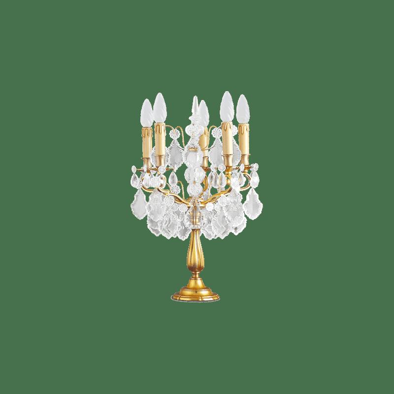 Lucien Gau Crystal Tischleuchte mit fünf Leuchten 14085 Kristalle