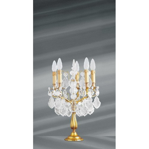 Lucien Gau Crystal table lamp with five lights 14085 Crystals