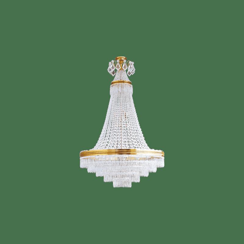 Lucien Gau Lustre en cristal Louis XVI à 14 lumières 16374 Cristaux
