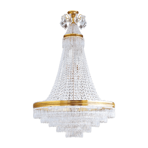 Lucien Gau Louis XVI crystal chandelier with 14 lights 16374