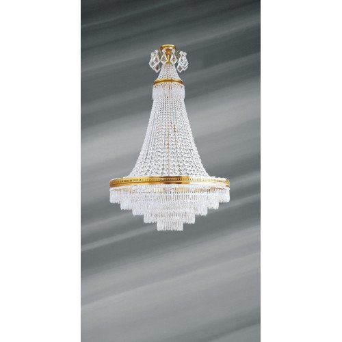 Lucien Gau Louis XVI crystal chandelier with 14 lights 16374 Crystals