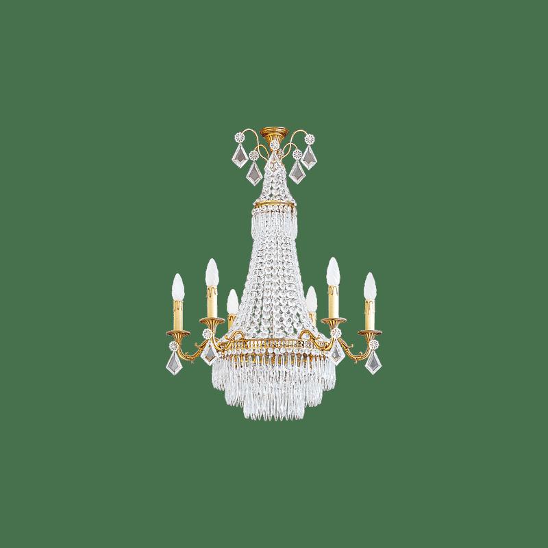 Lucien Gau Louis XVI crystal chandelier at nine lights 16367 Crystals